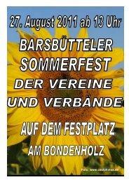 Faltblatt Sommerfest 2011c - Bürgerverein Barsbüttel eV
