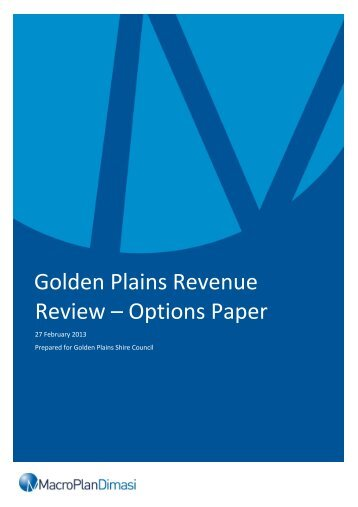 Rating Strategy - March 2013 - Golden Plains Shire