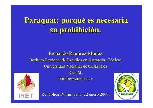 Paraquat: porqué es necesaria su prohibición. - CEDAF