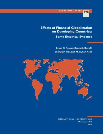 Effects of Financial Globalization on Developing Countries