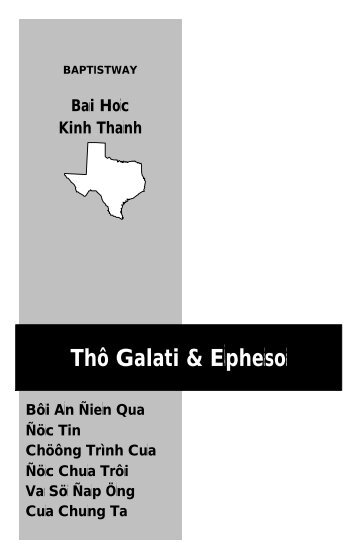 Vietnamese Galatians & Ephesians Study Guide - BaptistWay Press