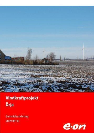 Vindkraftprojekt Örja - E-on