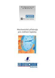 Mechanické přístroje pro měření teploty - FLUIDTECHNIK BOHEMIA ...