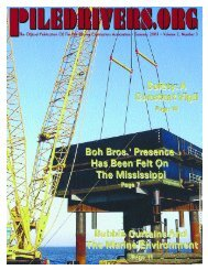 USED LINE PIPE - Pile Driving Contractors Association