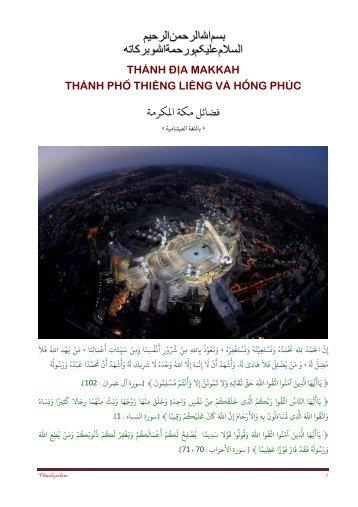 thánh địa makkah - thành phố thiêng liêng và hồng phúc