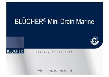 BLÜCHER® Mini Drain Marine - Marine Plant Systems