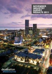 November INdustry survey results 2011 - Destination Melbourne