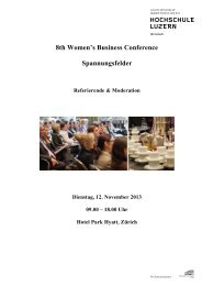 8th Women's Business Conference Spannungsfelder