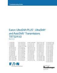 Eaton UltraShift PLUS®, UltraShift® and ... - weller truck parts