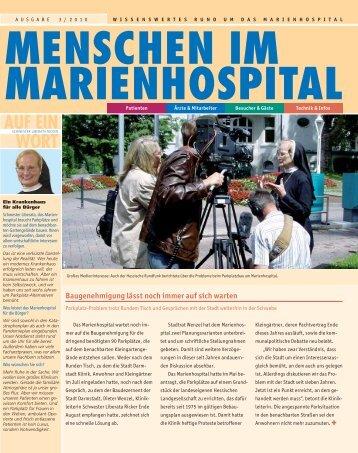 80 Jahre Marienhospital – 80 Jahre medizinischer Fortschritt