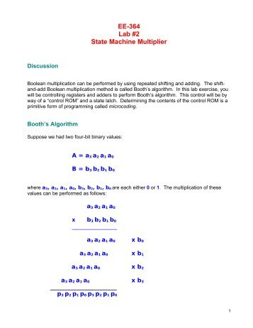 EE-364 Lab #2 State Machine Multiplier - Capitol College Faculty ...