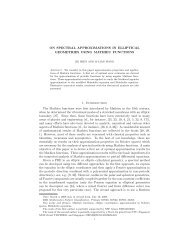 ON SPECTRAL APPROXIMATIONS IN ELLIPTICAL ... - CiteSeerX