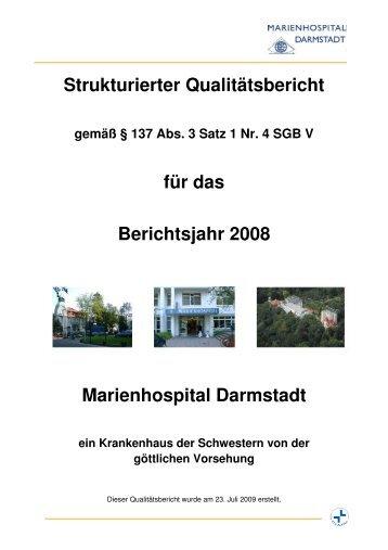Qualitätsbericht 2008 - Marienhospital Darmstadt
