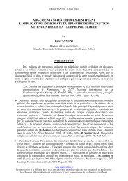 ARGUMENTS SCIENTIFIQUES JUSTIFIANT L ... - Next-up