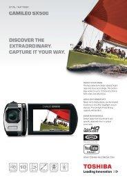 discover the extraordinary. capture it your way. camileo ... - Toshiba