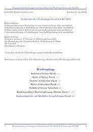 Kommentiertes Vorlesungsverzeichnis SS 2013 ... - Institut fuer Physik