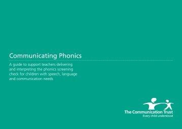 Communicating Phonics - The Communication Trust