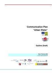 """Communication Plan """"Urban Water"""" - Böhm und Partner"""