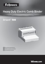 Heavy Duty Electric Comb Binder - Fellowes