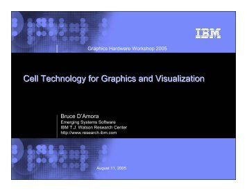 Cell Technology for Graphics and Visualization - Graphics Hardware