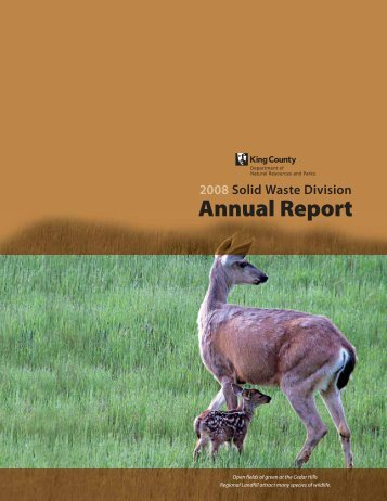 2008 Annual Report - King County Solid Waste Division