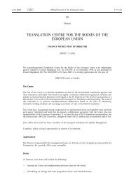 (Grade A14) Director - Translation Centre for the Bodies of the ...