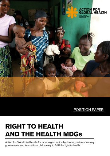 Right to health position paper - Action for Global Health