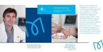 Patienteninformation Herzscreening für ... - Marienhospital