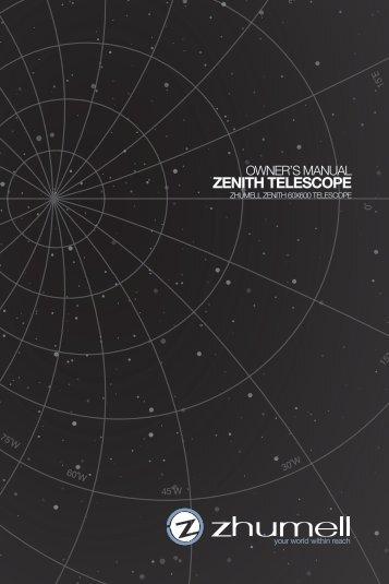 Download Zhumell Zenith Telescope Instruction ... - Telescopes.com