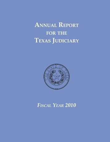 2010 Annual Report.indb - Texas Municipal Courts Education Center