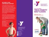 The 14Th AnnuAl YMCA ChAriTY Golf ClAssiC We need Your ...