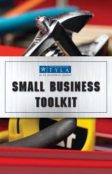 Small Business ToolKit - State Bar of Texas