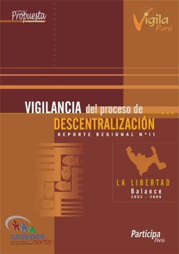 Región La Libertad: Reporte # 11 - Grupo Propuesta Ciudadana