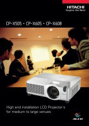 CP-X505 • CP-X605 • CP-X608 - LCD and DLP Projectors