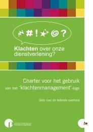'klachtenmanagement'-logo (PDF, 366.48 Kb) - Fedweb - Belgium