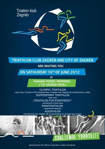 TRIATHLON CLUB ZAGREB AND CITY OF ZAGREB ON ...