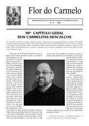 Flor do Carmelo Nº 33 - Ordem dos Padres Carmelitas Descalços