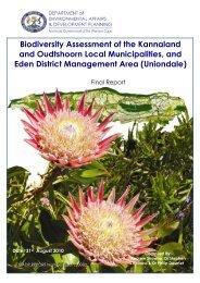 Little Karoo Biodiversity Assessment - Biodiversity GIS - SANBI