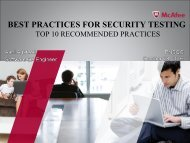 BEST PRACTICES FOR SECURITY TESTING - PNSQC