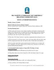 dr. martin luther king jr.'s birthday (beloved community day)