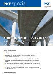Sanierungspraxis – Quo Vadis? - PKF
