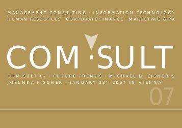 COM.sult 07 · FUTURE TRENDS · MICHAEL D. EISNER ... - Austrom