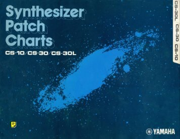 Synthesizer Patch Charts - CS-10 / CS-30 / CS-30L - Fdiskc