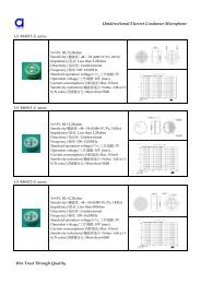 Unidirectional Electret Condenser Microphone ... - DAU Components