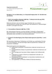 Richtlinien für die Behandlung von Dispensationsgesuchen für ...