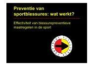 Effectiviteit van blessurepreventieve maatregelen in de sport