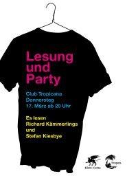 Lesung und Party