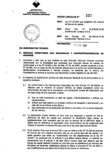 OFICIO CIRCULAR N° - Pollmann