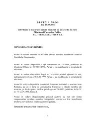 DECIZIA NR. 269 din 29.09.2004 referitoare la masura de sprijin ...