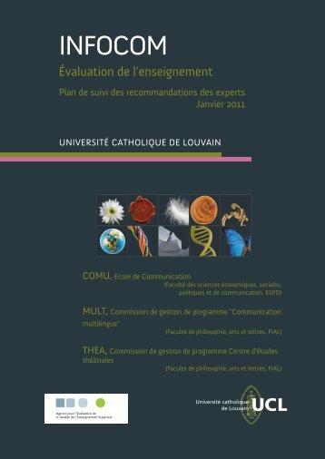 UCL - Agence pour l'Evaluation de la Qualité de l'Enseignement ...